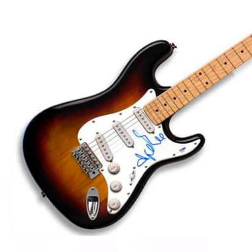 Adele Autographed Signed Sunburst Guitar